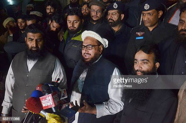 Pakistani leader of the JamaatudDawa organisation Hafiz Saeed leaves after being detained by police Pakistan has ordered the detention of the...