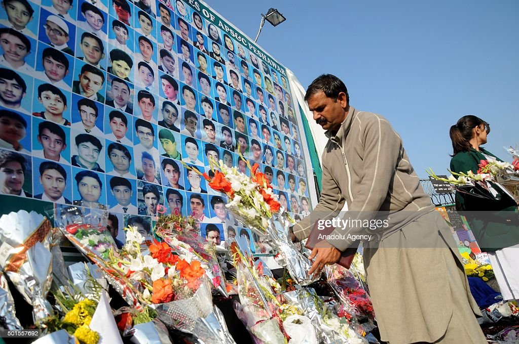 First anniversary of school attack in Peshawar : News Photo