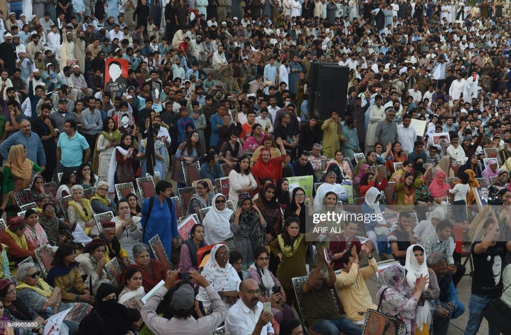 Pakistani members of the Pashtun Protection Movement and