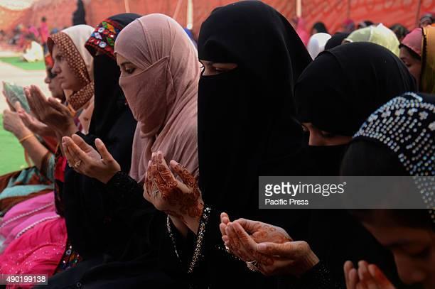 Pakistani Muslim women offer Dua after said Eid alAdha pray at the Badshahi Mosque Muslims around the world celebrate the Eid alAdha a festival to...