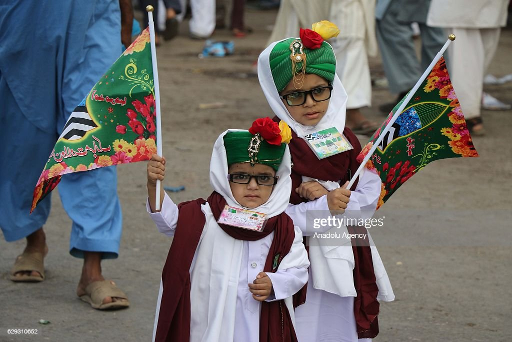 Mawlid celebrations in Pakistan : Nachrichtenfoto