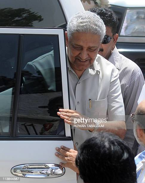 Pakistani nuclear scientist Abdul Qadeer Khan arrives for his brother Abdul Rauf Khan's funeral in Karachi on May 8 2011 Abdul Qadeer Khan the father...
