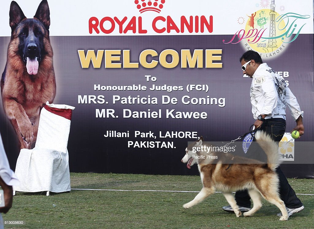 Pakistani People with their pets participating in Dog Show