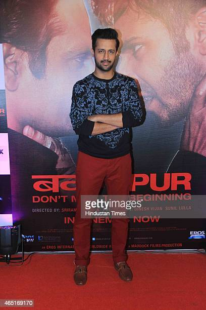 Pakistani playback singer Atif Aslam during the success party of the film Badlapur on February 27 2015 in Mumbai India