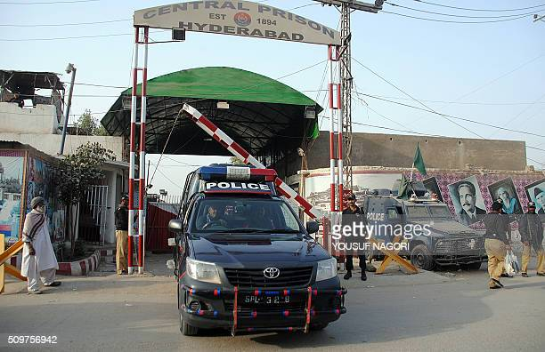 Pakistani policemen stand guard outside the Central Jail where Ahmed Omar Saeed Sheikh is currently on death row for the murder of US journalist...