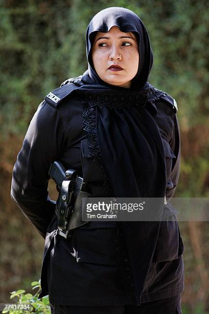 Pakistani policewoman on duty in Rawalpindi Pakistan