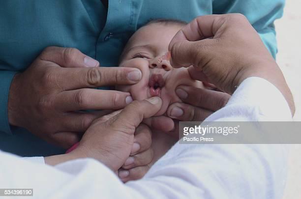 Pakistani Polio Vaccination Team administering polio drops to children during Antipolio campaign at suburbThe World Health Organization said that ten...