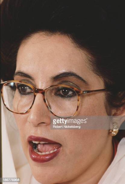 Pakistani politician stateswoman and 11th Prime Minister of Pakistan Benazir Bhutto Islamabad Pakistan circa 1991
