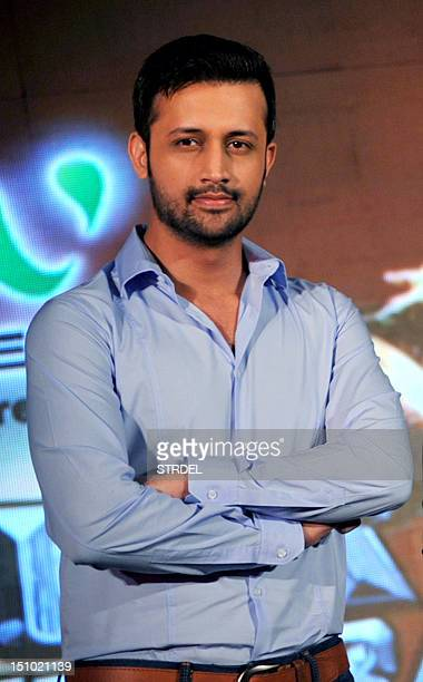 Pakistani pop singer Atif Aslam poses during a media event for the television musical show SurKshetra In Mumbai on August 30 2012 AFP PHOTO/STR