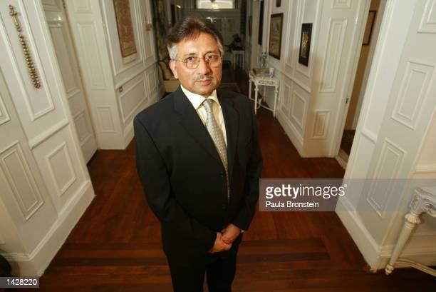 Pakistani President General Pervez Musharraf is seen at his residence July 6 2002 in Rawalpindi Islamabad Pakistan