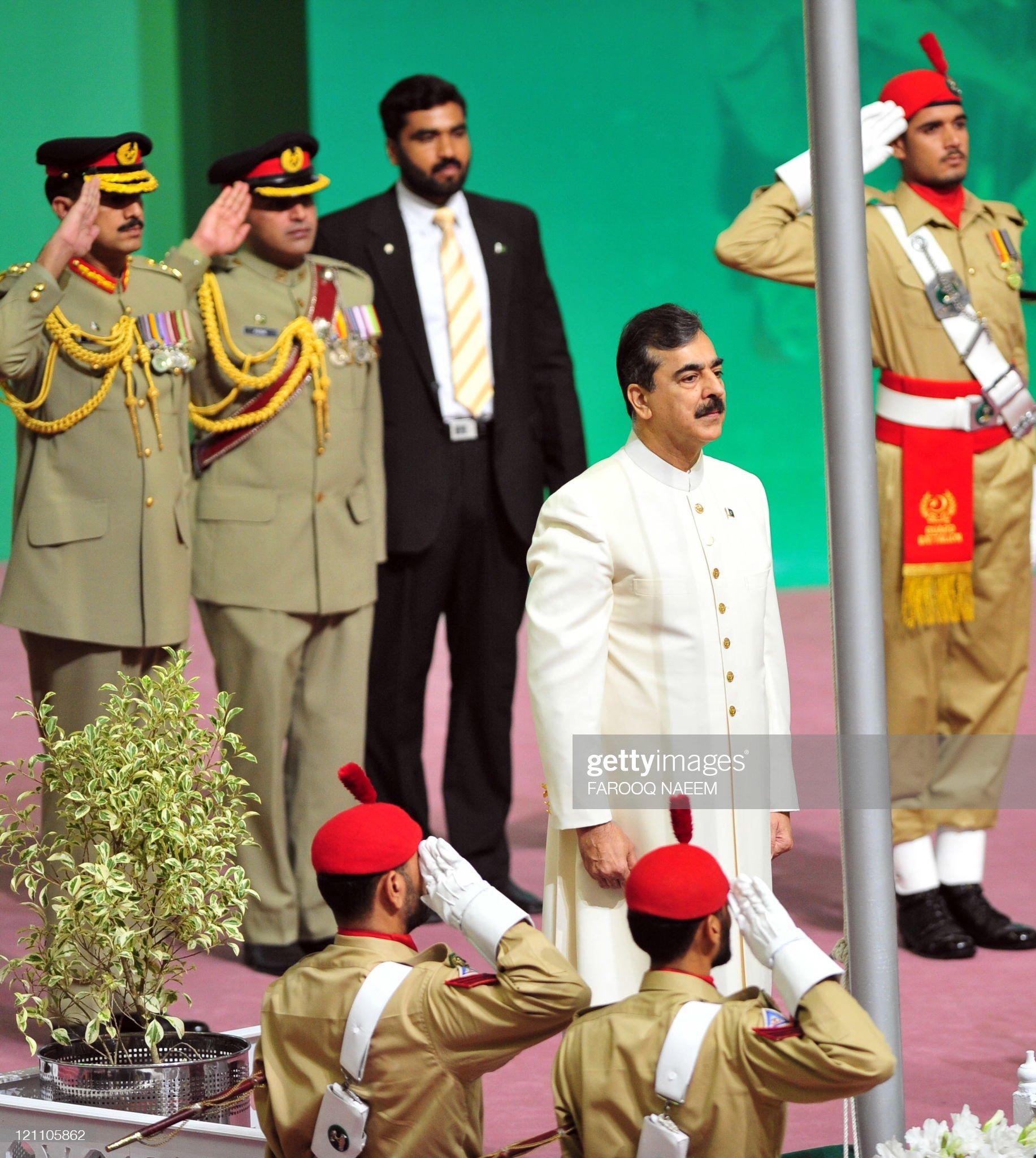 Pakistani Prime Minister Yusuf Raza Gila : News Photo