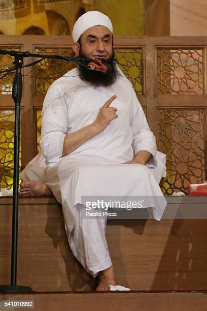 Pakistani religious leader Molana Tariq Jameel addressing the faithful during Second NamazeJuma of Holy Fasting Month of RamzanulMubarak at 7th...