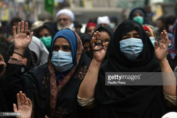 Pakistani Shiite Muslims gather during a protest against the killing of coal miners of the Shiite Hazara community who were attack by gunmen in the...