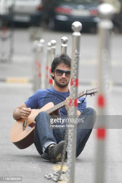 Pakistani singer Atif Aslam poses during a photoshoot on June 29 2007 in New Delhi India