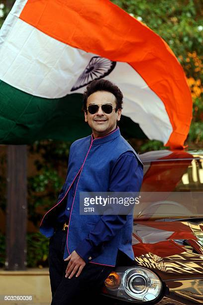 Pakistani Singer Musician and Composer Adnan Sami poses as he celebrates being granted Indian citizenship from the New Year at his residence in...