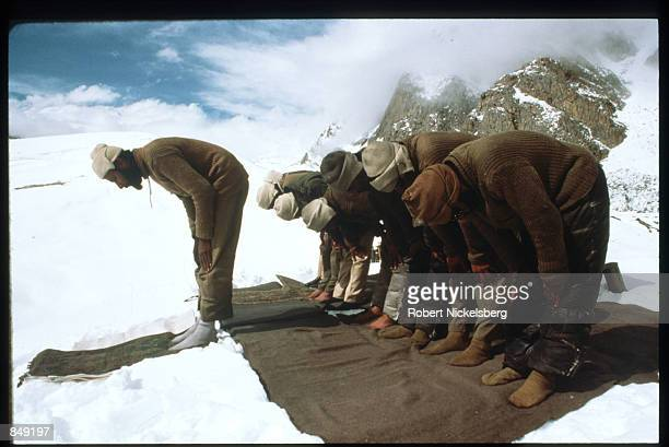 Pakistani soldiers pray June 1989 in Kashmir near the PakistanIndia border India and Pakistan have fought three wars over ownership of Kashmir none...