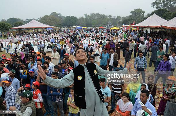 Pakistani special children take a part in a Spring Festival 2016 which was organized by Parks and Horticulture Authority at the Racecourse Jailani...