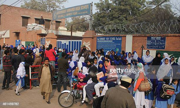 Pakistani students first day of school under high alert security as schools reopens after a long vacation mandated by Government after the terrorist...
