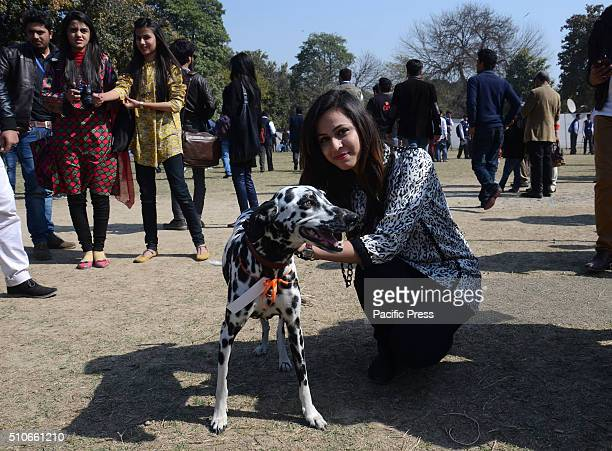 Pakistani students participating at a pet show organized by Forman Christian College