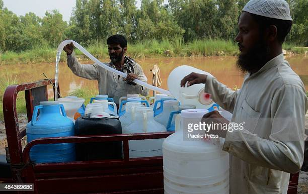 Pakistani water suppliers are collecting water from the canal near Lahore, before supplying them to the citizens. Due to the excessive use of...