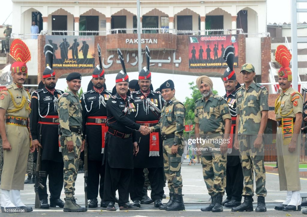 Sweets Exchanged At Wagah-Attari Border On Pakistan Independence Day