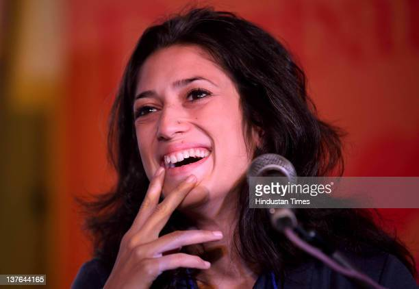 Pakistani Writer and social Activist Fatima Bhutto during session on The Writing and Resistance at DSC DSC Jaipur Literature Festival on January 23...