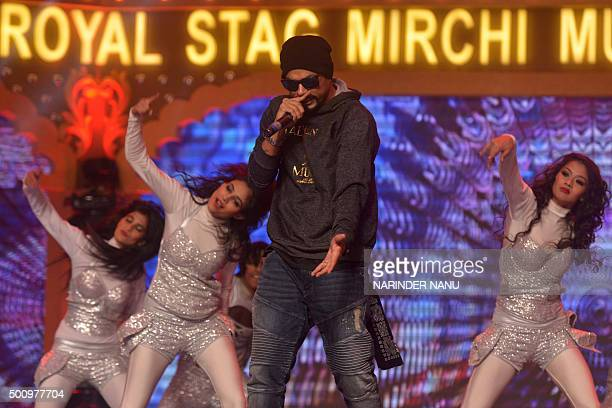 PakistaniAmerican rapper and musician Bohemia real name Roger David performs during the 'Radio Mirchi Awards Punjabi' function in Amritsar on...