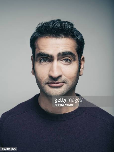 PakistaniAmerican standup comedian actor writer and podcast host Kumail Nanjiani from the film 'The Big Sick' poses for a portrait at the Sundance...