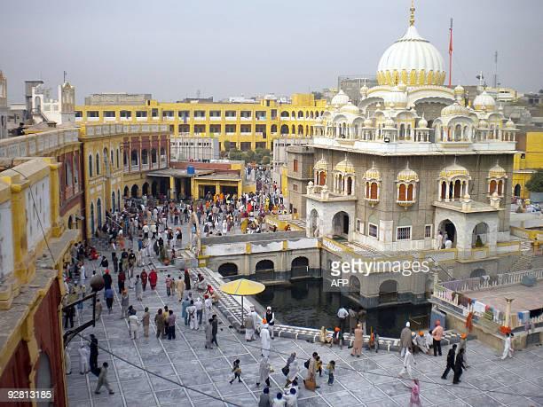 PakistanIndiareligionsecurityunrestFOCUS by Khurram Shahzad Indian Sikh devotees gather at the holy shrine of Gurdwara Punja Sahib in Hasan Abdal on...