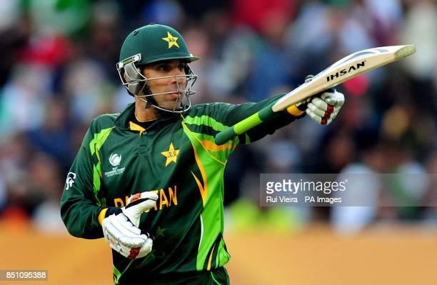 Pakistan's captain MisbahulHaq during the ICC Champions Trophy match at Edgbaston Birmingham