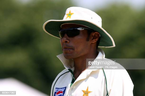 Pakistan's Danish Kaneria during the Tour match against Leicestershire at Grace Road Leicester Photo Credit should read David Davies/PA