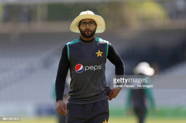 Pakistan's ImamUlHaq during the nets session at Lord's London