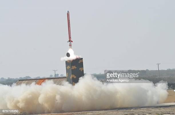Pakistan's military testfires a revised version of a locally developed mediumrange cruise missile which can strike targets both on land and sea in...