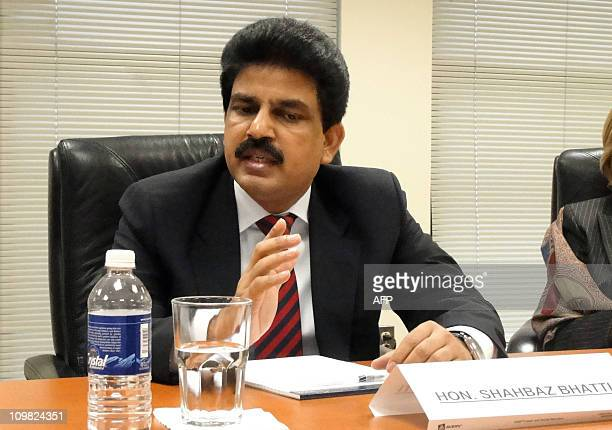 Pakistan's minister for minorities Shahbaz Bhatti listens to during a meeting of the US Commission on International Religious Freedom a bipartisan...