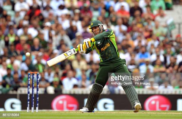 Pakistan's MisbahulHaq bats during the ICC Champions Trophy match at The Oval London