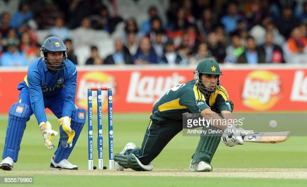 Pakistan's MisbahUlHaq bats during the ICC World Twenty20 Super Eights match at Lord's London
