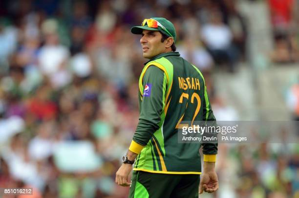 Pakistan's MisbahulHaq lookson during the ICC Champions Trophy match at The Oval London