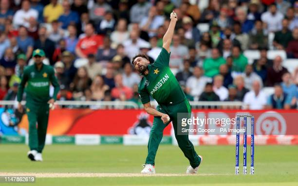 Pakistan's Mohammad Amir bowls during the ICC Cricket World Cup group stage match at Trent Bridge Nottingham