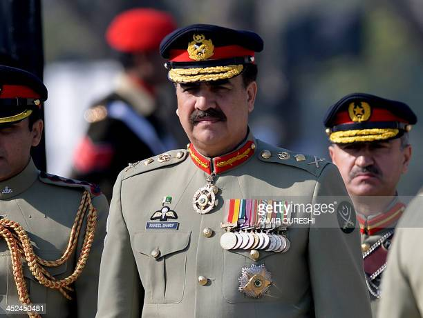 Pakistan's new army chief General Raheel Sharif arrives to attend the change of command ceremony in Rawalpindi on November 29 2013 General Raheel...