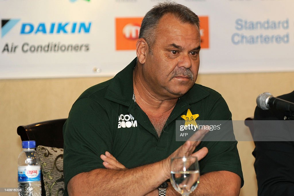 Pakistan's new cricket coach Dav Whatmor : News Photo