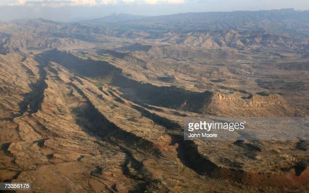 Pakistan's North Waziristan tribal area is seen from the air February 17 2007 NATO and the Afghan government say that Taliban and AlQaeda fighters...