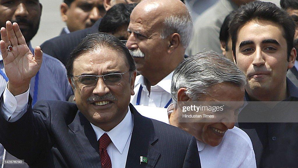 Pakistan's President Asif Ali Zardari Visits India