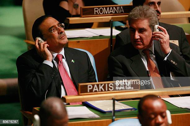 Pakistan's President Asif Ali Zardari looks on at the Culture of Peace meeting of the United Nations General Assembly at UN headquarters November 13,...