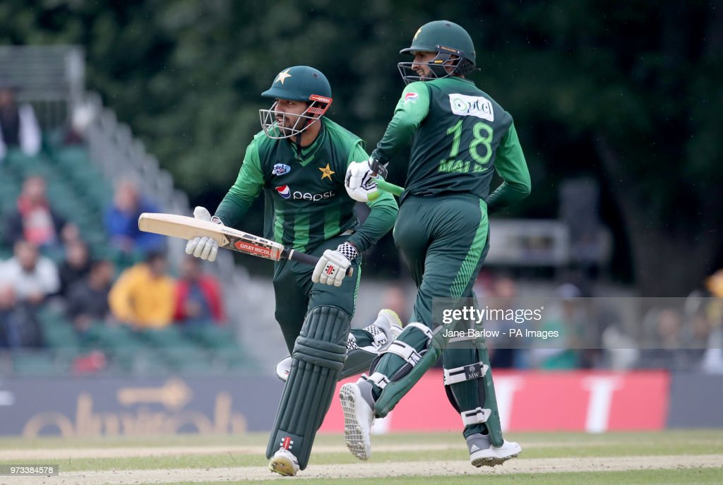 Pakistans Shadab Khan And Shoaib Malik During The Second News