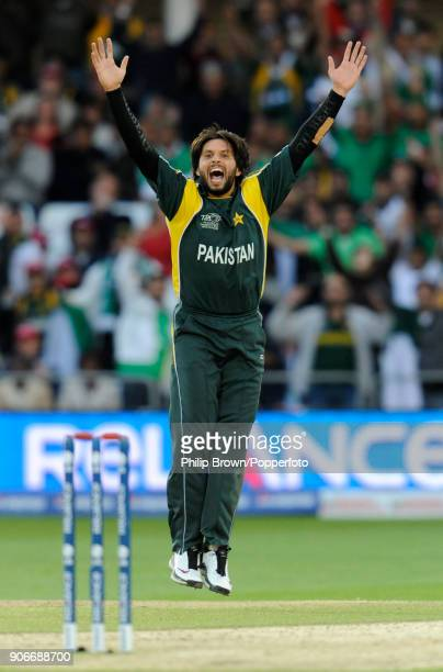 Pakistan's Shahid Afridi appeals for a wicket during the ICC World Twenty20 Semi Final between Pakistan and South Africa at Trent Bridge Nottingham...