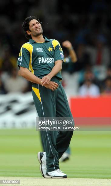 Pakistan's Sohail Tanveer shows his frustration during the ICC World Twenty20 Super Eights match at Lord's London