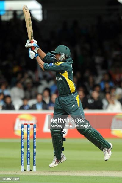 Pakistan's Younis Khan bats during the ICC World Twenty20 Super Eights match at Lord's London