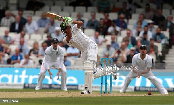 Pakistan's Younis Khan during Day Three of the Fourth Investec Test Match between England and Pakistan played at The Kia Oval Stadium London on...