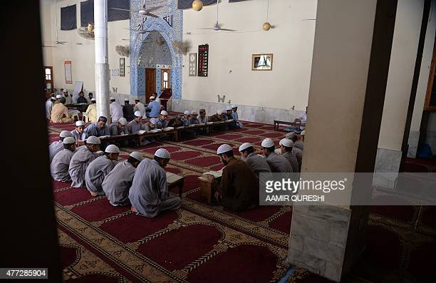 PakistanUnrestEducationReligion FEATURE by Gohar ABBAS This photograph taken on May 5 2015 shows Pakistani students of a madrassa or Islamic school...