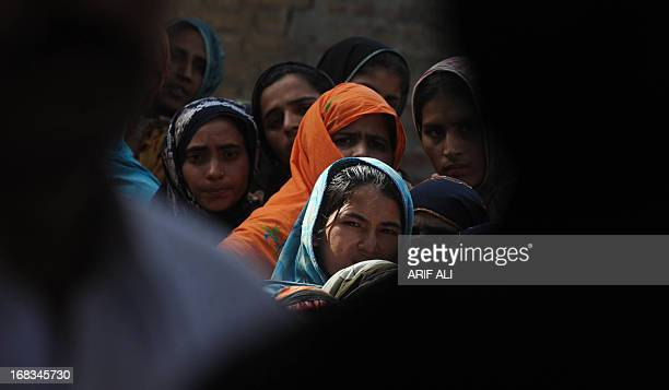 PakistanunrestvotecandidateHaq by Issam Ahmed In this photograph taken on May 8 2013 supporters of AbrarulHaq a candidate for the national assembly...